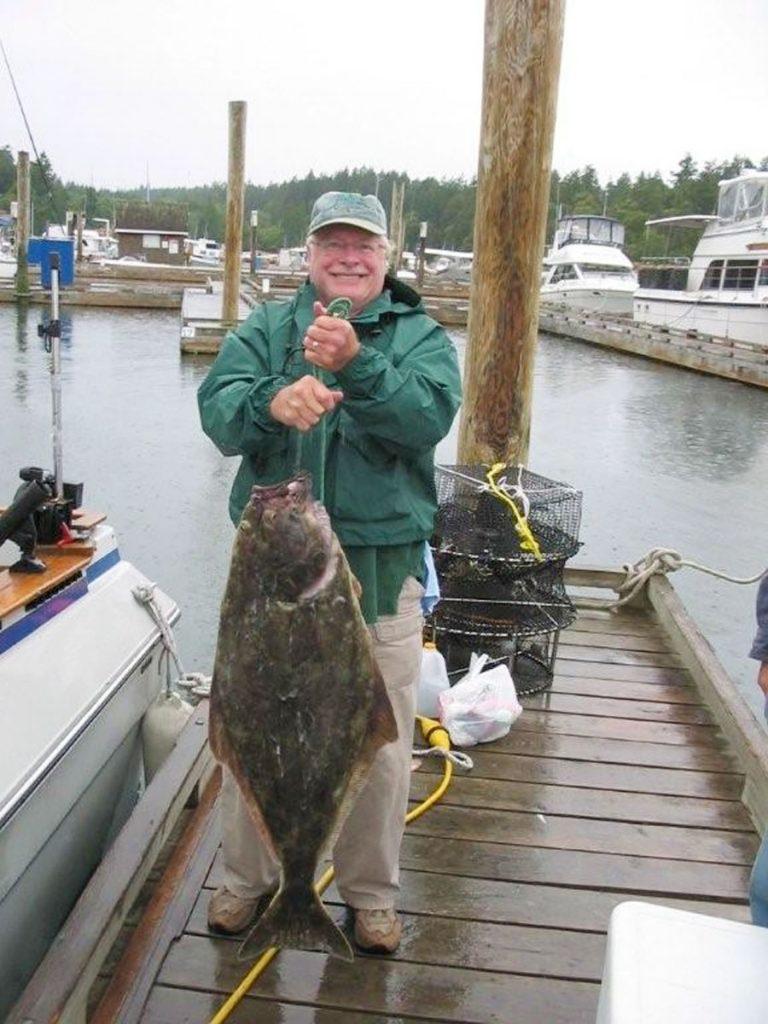 Rodney always wanted to catch a Halibut around Gabriola 32 pounds.